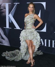She may have been mocked for the brevity of her cameo in Fifty Shades Darker but no one was complaining when it came to the shortness of Rita Ora's dress at the Los Angeles premiere of the S&M film on Thursday night