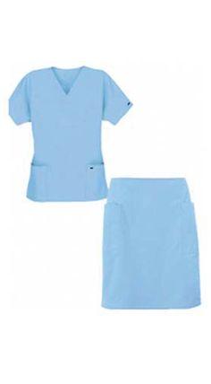 Women's Drop Waist Pleated Scrub Skirt | White crosses ...