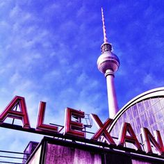 Berlin TV Tower Alexanderplatz in former East Berlin - I have some not-so-pleasant memories of this building....ugh!