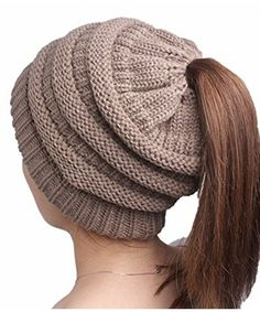 Ponytail Beanie Winter Hats for Women Crochet Knit Cap Skullies Beanies Warm Caps Female Knitted Stylish Hat Ladies Fashion Cable Knit Hat, Knit Beanie, Beanie Hats, Women's Hats, Turban Hat, Caps Hats, Ponytail Beanie, Stylish Hats, Knitting Wool