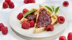 Rebarborový džem s malinami – Seznam.cz Waffles, Pancakes, Preserves, Pesto, Pickles, Breakfast, Food, Morning Coffee, Preserve
