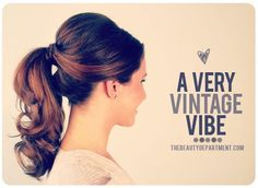 Hair style step by step: tail 50s style