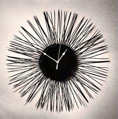 Black Starburst Clock, Upcyled vinyl record clock, unique wall clock, retro by ClockyWocky on Etsy Vinyl Record Clock, Vinyl Records, Unique Wall Clocks, Retro, Unique Jewelry, Vintage, Black, Home Decor, Armadillo