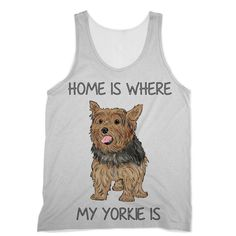 Yorkshire Terrier with Saying Designs by Amitie Sublimation Vest
