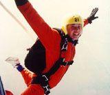 Skyline: Static line parachute jumps learn to sky dive via static line