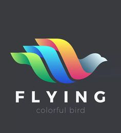 Flying Bird Logo Colorful Abstract design by Sentavio on Envato Elements Abstract Logo, Geometric Logo, Fly Logo, Water Logo, Bird Logos, Wings Logo, Logo Design, Graphic Design, Bird Design