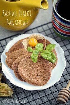 Razowe placki bananowe – dietetyczne, bez tłuszczu, wegańskie