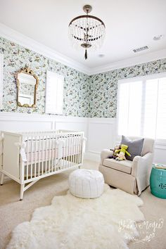 House of Turquoise: Shea McGee Design  If i have a baby girl- this is what I envision for a nursery.