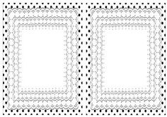 Pretty layered lace with black polka dot edging A5 Insert on Craftsuprint - Add To Basket!