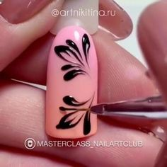 Nail Art Designs In Every Color And Style – Your Beautiful Nails Nail Art Designs Videos, Gel Nail Art Designs, Nail Art Videos, Rose Nail Art, Floral Nail Art, Nail Manicure, Gel Nails, Bridal Nail Art, Nail Art Hacks