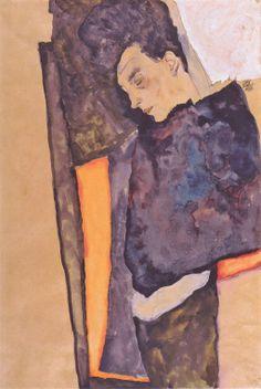 Egon Schiele - Die schlafende Mutter des Künstlers