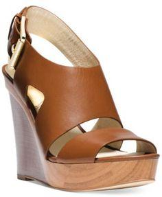 MICHAEL Michael Kors Carla Platform Wedge Sandals | macys.com