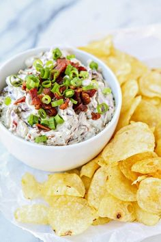 A Bacon-Blue Cheese Dip So Good, You'll Want to Eat It with a Spoon