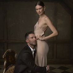 Adam Levine & Behati Prinsloo: | 16 Stunning Portraits From The Vanity Fair Oscar Party