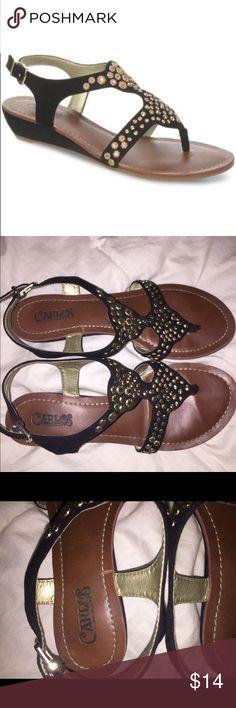 Carlos size Santana 6.5 sandal Carlos Santana only worn twice. Listed on Macys.com right now for $69 Carlos Santana Shoes Sandals
