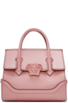 Redirecting you to SSENSE for Versace Pink Medium Palazzo Empire Bag. Versace Purses, Versace Bag, Versace Handbags, Studded Handbags, Studded Purse, Pink Handbags, Fashion Handbags, Purses And Handbags, Fashion Bags