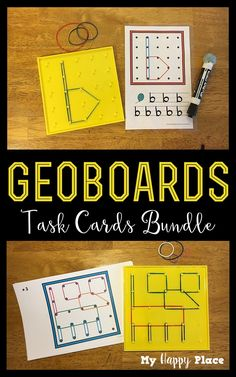 Perfect for morning tubs or centers, geoboard task cards keep kids busy and learning - bundle includes letters, numbers, shapes, and animals. Kindergarten Centers, Preschool Kindergarten, Teaching Math, Math Centers, Alphabet Activities, Literacy Activities, Geo Board, Math Numbers, Decomposing Numbers