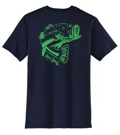 """Bass """"Reel Hawg"""" Fishing Cotton Crew T-Shirt by Reel Fishy Apparel Fishing Reels, Bass Fishing, Cool Shirts, Casual Shirts, Fishing T Shirts, Lady V, Tees, Long Sleeve, Sleeves"""