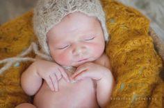 Lace Newborn Bonnet Knit lace bonnet by SimplywithlovebyZuzi, $14.50