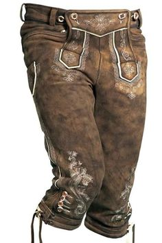 Lederhosen For Men's High Quality Cow Hide Leather Available In All Sizes Minimum Quantity 100 Pieces