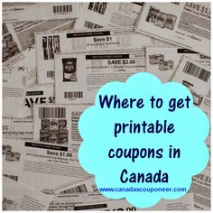 Where to find printable coupons in Canada! Learn all the different websites to print some money saving coupons! Read the article at http://www.canadascouponeer.com/2014/01/Where-to-get-printable-coupons-Canada.html