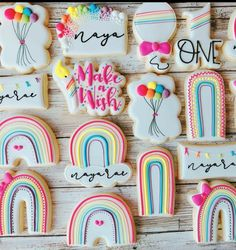 Fun Cookies, Cupcake Cookies, Sugar Cookies, Decorated Cookies, Cupcakes, Rainbow Unicorn Party, Unicorn Birthday Parties, Birthday Party Themes, Cookie Box