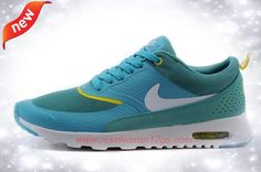 brand new 9bea1 da6a3 Nike Air Max Thea Print 599409-301 Peacock Blue   Fluorescent Yellow Mens  Outlet Online