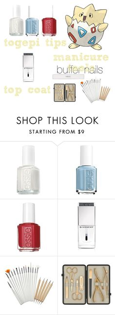 """""""pokemon beauty mania"""" by salomemonametsi ❤ liked on Polyvore featuring beauty, Essie, Givenchy, Czech & Speake and Nails Inc."""
