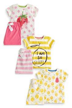 Buy Three Pack Fruit Print Shorts Pyjamas (12mths-16yrs) from the Next UK online shop