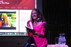On stage reading about Pleasure