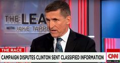 "Clinton Should Quit Race–Former NIA Director Gen Michael Flynn | 2.14.16 |""Clinton's lame excuses don't fly with Gen Michael Flynn. He believes the severity of the offenses & the recklessness call for Clinton to drop out of the race. Former DIA Dir Gen Michael Flynn is calling for Hillary Clinton to suspend her presidential campaign. In an interview with Jake Tapper, Flynn said it's something he feels very strongly about for two reasons. Clinton Should & Did Know Better, She should Resign…"