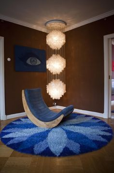 Verner Panton Brown room - it does not get much groovier than this…