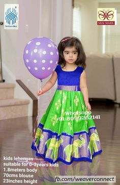 Exclusive ikkat kids lehengas available in stock ready to ship Whatsapp Measurements: Suitable for age group body blosue height Birthday Frocks, Baby Birthday Dress, Lehanga For Kids, Kids Lehanga Design, Kids Dress Wear, Kids Gown, Cute Dresses, Flower Girl Dresses, Baby Dresses