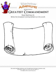 Enjoy our free Bible worksheet: The Greatest Commandment. Fun for kids to print and learn more about the Bible. Feel free to share with others, too! Scroll Tattoos, Printable Border, Free Printable, Ancient Paper, Border Templates, Greatest Commandment, Stencil Printing, Free Clipart Images, Page Borders