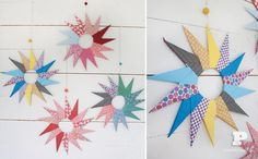 Oragami stars... uses 14 pieces of square paper