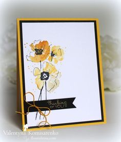 #Flourishtina ombre effect  with PTI Harvest Gold, Tim Holtz Wild Honey and Antique Linen. Then  added black outline.