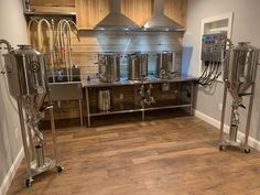 Building a home brewery? Once you've built out the room, fill it with Spike Brewing equipment and invite your friends over to start brewing up some amazing beer!