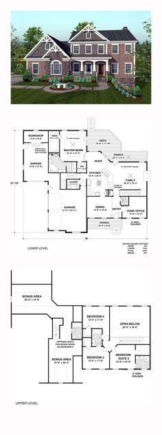 Colonial Style COOL House Plan ID: chp-43646   Total Living Area: 2493 sq. ft., 4 bedrooms and 4 bathrooms. #colonialhome