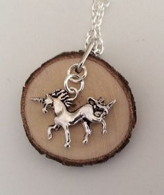 """Essential Oil Diffuser Necklace Made with Organic Wood by LowcountryEclectic $15.00 FREE SHIPPING--Because sometimes you wake up in the morning and think """"My life has been sadly lacking in magic lately. My life needs a little more whimsy, a little more joy, a little more clarity...A UNICORN! That's what I need!"""" Come on, who doesn't love unicorns? Aside from villains, everyone loves unicorns!"""
