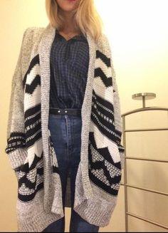 Compra mi artículo en #vinted http://www.vinted.es/ropa-de-mujer/cardigans/818009-cardigan-etnico-blanco-y-negro-mango