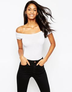 ASOS The Off Shoulder Body With Short Sleeves