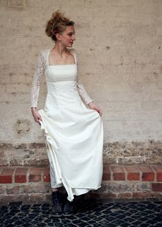 White cotton wedding dresses under 40