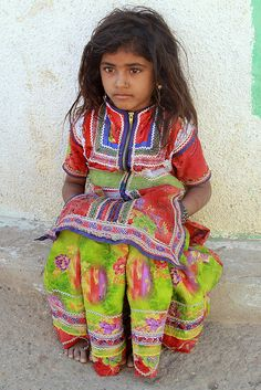 A young girl in rural India