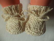 Babyschuhe gestrickte 50/56 Baumwolle Schuhe Baby
