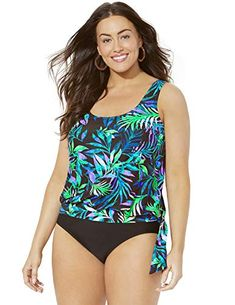 1198ff77afc6b Swimsuits for All Women s Wildwood Side Tie Blouson Tankini