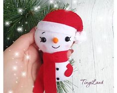 Cute Snowman Snowman Felt Christmas Ornaments  Christmas Tree Ornaments Handmade Snowman New Year Decor Xmas Gifts Christmas Decorations