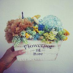 centro de flores secas preservadas y