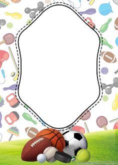 Free Printable Stationery, Free Invitation Templates, Free Printable Birthday Invitations, Free Printables, Disney Invitations, Gymnastics Birthday, Sports Birthday, Kids Background, Flower Background Wallpaper