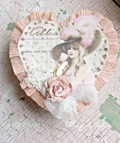 Vintage valentine box, one of the creative kits in the January Little Pink Box