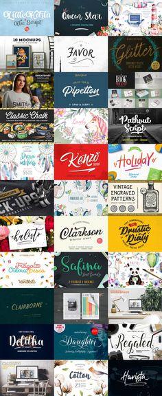 The Artsy #Design #Bundle #Fonts #Graphics